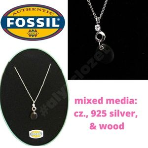 🌟NWT🌟 Fossil Sterling Silver Necklace